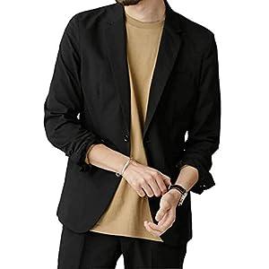 ジャケット メンズ おおきいサイズ ビジネス 春夏 おしゃれ テーラードジャケット黒 ネイビー カーキ