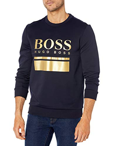 Hugo Boss Herren Authentic Sweatshirt 10208539 06 Pyjama-Oberteil (Top), Dark...