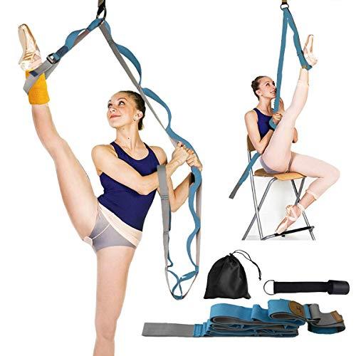 Beser Lee - Estirador de piernas flexible para mejorar el estiramiento de las piernas, entrenamiento de ballet, yoga, pilates, flexibilidad, más seguridad, perfecto para el hogar, equipo portátil, danza, gimnasia, ejercicio, taekwondo, Azul