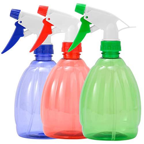 ZITFRI Sprühflasche 3 Farben Sprühflaschen 500ml Plastik Zerstäuber Leere Sprühflasche Blumensprüher wiederverwendbar Zerstäubereffekt BPA frei Sprayer nachfüllbare Sprüher Pflanze Blumen