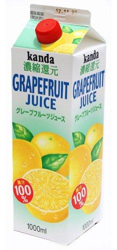 グレープフルーツジュース100% 1000ml×6本 紙パック