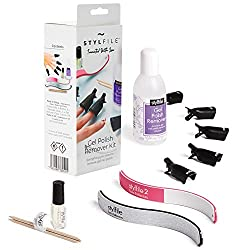 The STYLFILE Gel Polish remover clips make Gel, Shellac and nail art polish removal at home quick and easy to do Each clip will hold acetone soaked cotton wool pad securely and comfortably onto each nail with enough pressure to speed up the removal p...