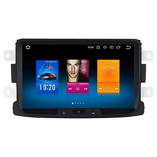 Reproductor multimedia para coche 8 'Android 9.0 Radio para coche 1 Din con pantalla RAM 4G + ROM 32G para Renault Duster Dacia Sandero Captur Estéreo para coche Soporte Bluetooth GPS WiFi DAB + Carp
