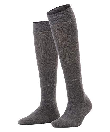 ESPRIT Damen Basic Pure W KH Socken, Blickdicht, Grau (Anthracite Melange 3080), 39-42 (UK 5.5-8 Ι US 8-10.5) (2er Pack)