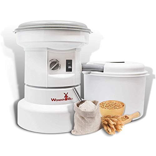 Powerful Electric Grain Mill Grinder for Home and Professional Use - High Speed Electric Flour Mill Grinder for Healthy Grains and Gluten-Free Flours - Electric Grain Grinder Mill by Wondermill