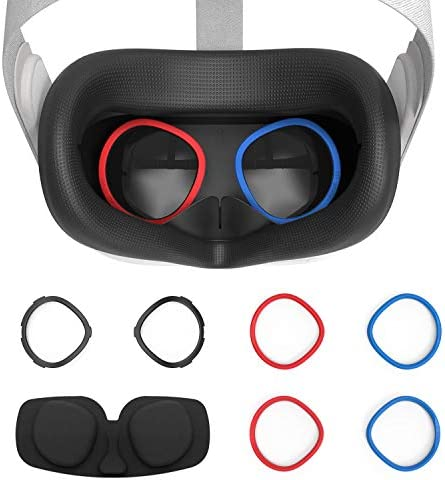 AMVR VR Silicone Face Cover Lens Anti Scratch Ring Protecting Myopia Glasses from Scratching product image