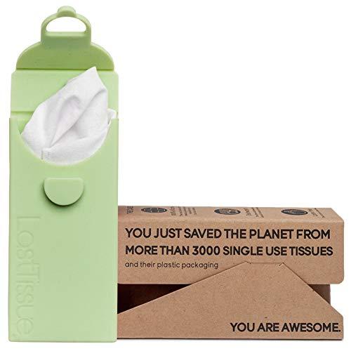 LastTissue Taschentücher Box - Umweltfreundlich - Wiederverwendbare Bio Taschentücher aus Baum -wolle - Entworfen in Dänemark - Zero Waste Weiche Kosmetiktücher - Nachhaltige Produckte