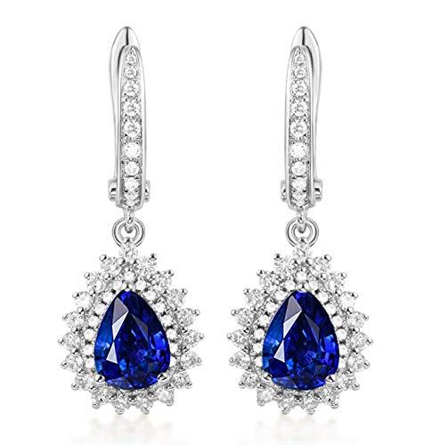 Pendientes de Turmalina Diamantes de 1.6ct Blisfille Joyería Colgante Plata Mujer Colgante Mujer Plata Pendientes de 18K Oro