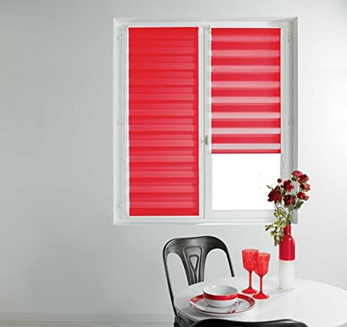 Estor enrollable Deco Dour/Noche, 120 x 180 cm, color rojo