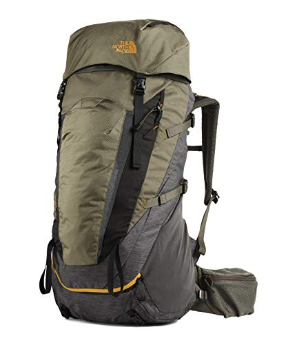 The North Face Terra Backpacking Backpack, TNF Dark Grey Heather/New Taupe Green, L-1X 65 L