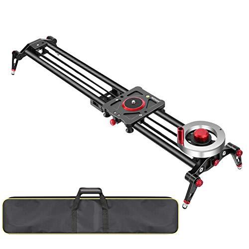 Neewer Kamera Schienen Schieberegler Dolly-Schienenstabilisator: 80 cm Schwungrad-Gegengewicht verstellbare Beine Tragetasche DSLR-Kamera-Camcorder-Schiene