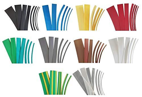 netproshop Schrumpfschlauch 9,5mm (2:1), Auswahl (2 Meter), Farbe:Grau