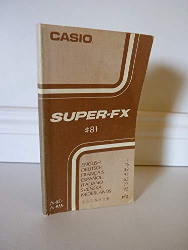 Casio Super-FX # 81 . Bedienungsanleitung