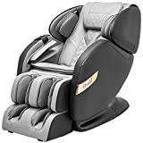 Osaki OS-Champ 2 Stages Zero Gravity Full-Body Massage Chair Recliner Heating on Lumbar 5 Auto Massage Programs (Black & Grey)