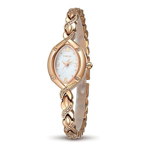 Time100 W50170L.02A Orologio Donna Bracciale Analogico Movimento al Quarzo Cinturino Acciaio Oro Elegante e Leggero