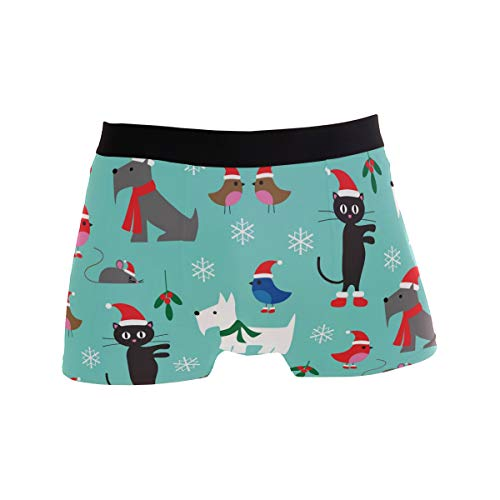 FANTAZIO mannen Boxer korte kerst dieren mannen ondergoed