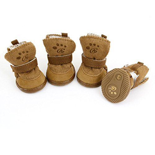 URBEST Brown Nonslip Rubber Sole Yorkie Dog Winter...