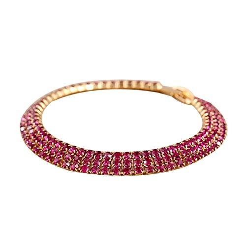 Dynamovolition Einfache und stilvolle Diamant Kristall Strass Armband für Frauen und Mädchen, schöne Armreifen