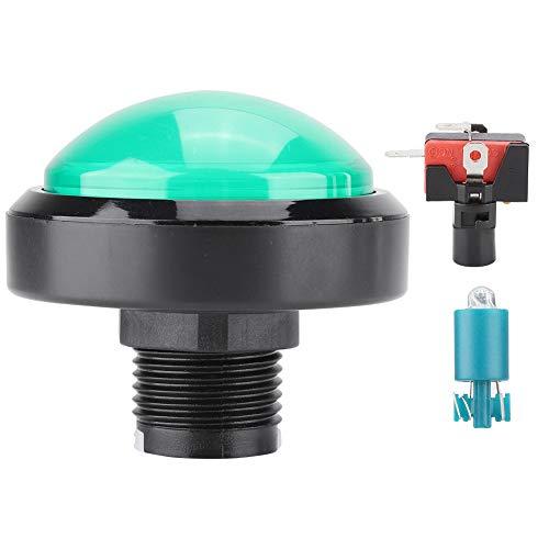 ASHATA LED Arcade-knoppen Schakelaar, 60 MM Ronde LED-lamp Verlicht Grote bolle knop naar arcade Machine Games DIY-onderdeel, 3D-cassetteknop
