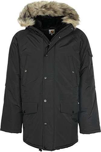 Carhartt Herren I0218661C00 Sweatjacke, Blu (Dark Navy/Black), Medium