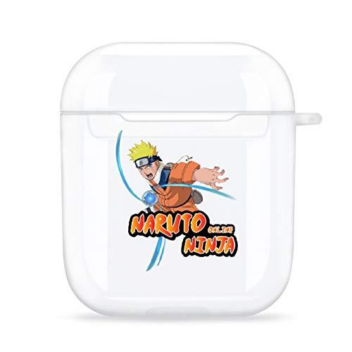 RaglMtC Nar-uto AirPods, funda protectora transparente, apta para Apple AirPods 1 y 2, resistente a los arañazos, soporta carga inalámbrica