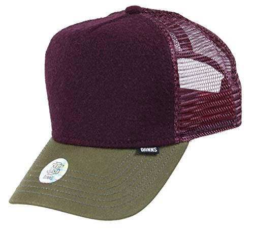 Djinns - Felt Coat (Green/Wine) - Trucker Cap Meshcap Hat Kappe Mütze Caps