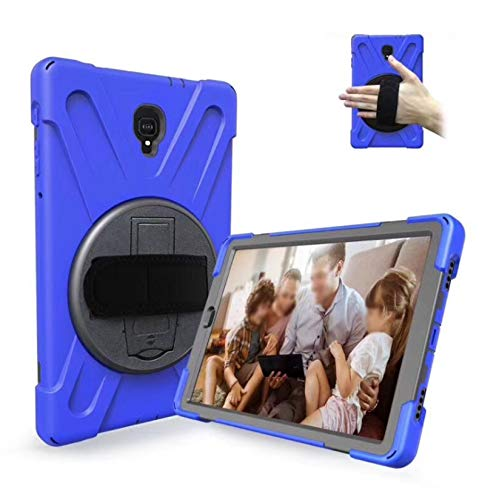 LONGSAND Compatible with Samsung Galaxy Tab S6 10.5' 2019/S6 Lite 10.4' Case Modern Tablet Shell for Woman Man PC Protective Cover with Kickstand & Adjustable Hand Strap,Blue,S6 Lite 10.4'