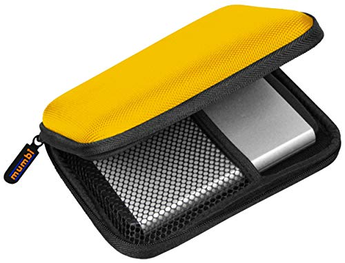 mumbi externe Festplattentasche bis 6,35 cm (2,5 Zoll) gelb