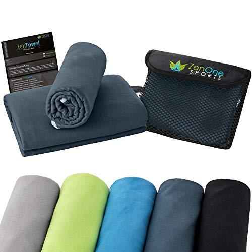 ZenTowel Mikrofaser Handtuch I Leicht & Saugfähig I Premium Fitness Handtuch I Ideal als Sporthandtuch, Reisehandtuch & Badetücher (50 x 110 cm, Navy)