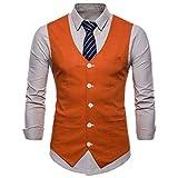 Chaleco de Traje de un Solo Pecho Ajustado para Hombre, Vestido Formal,...