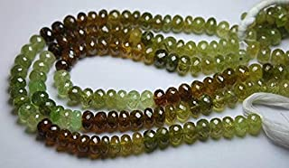 Jewel Beads 50% Off 8 Inch Strand,Natural GROSSULAR Garnet Faceted Rondelles,7-8mm Code-AUR-64196