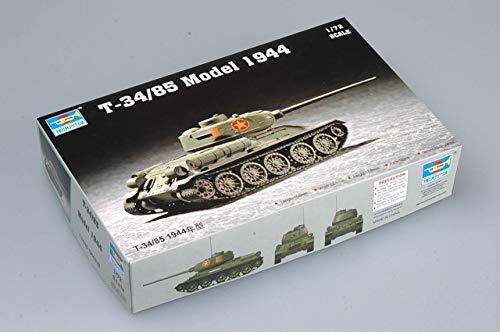 Trumpeter 07207 - Kit di Costruzione modellino carro Armato sovietico T-34/85 del 1944 in Scala 1:72