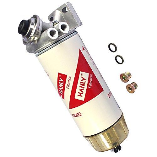 CARMOCAR 30 Micron Diesel Fuel Filter Water Seperator Hand Primer Pump 3/8 NPT -  WS-Z259
