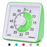 Yunbaoit - Temporizador analógico Visual, Cuenta atrás silencioso, Herramienta de gestión del Tiempo para niños y Adultos (Green)