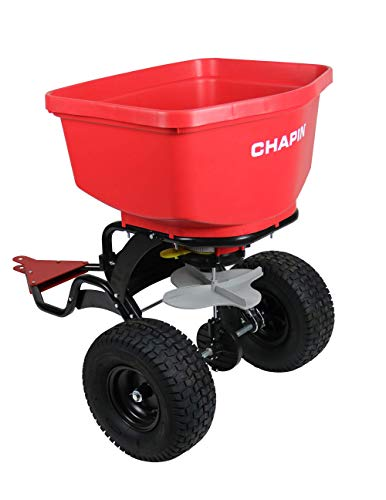 Chapin 8620B 150 lb Tow Behind Spreader with Auto-Stop, Red 8620B 150 lb Tow Behind Spreader with Auto-Stop