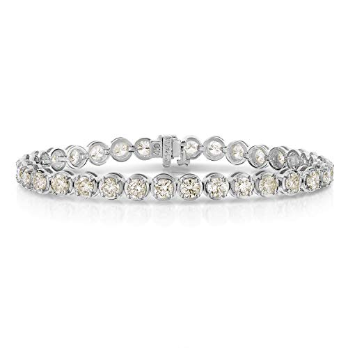 10 cttw Certified Classic Tennis Diamond Bracelet 14K White Gold I1-I2 Clarity 7 Inches