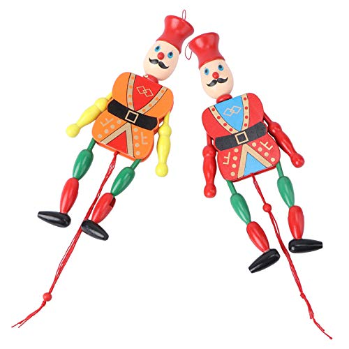 TOYANDONA Holz König Puppe Holz Marionette Märchen Kasperletheater Kasperlepuppen Holzspielzeug Groß Geschichte Erzählen Puppentheater Holzfiguren 2pcs Zufällige Farbe