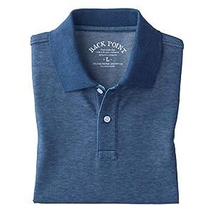 [セシール] ポロシャツ ディリーポロシャツ 抗菌防臭 吸汗速乾 UVカット 長袖 JK-270 メンズ シャドーブルー 日本 M (日本サイズM相当)