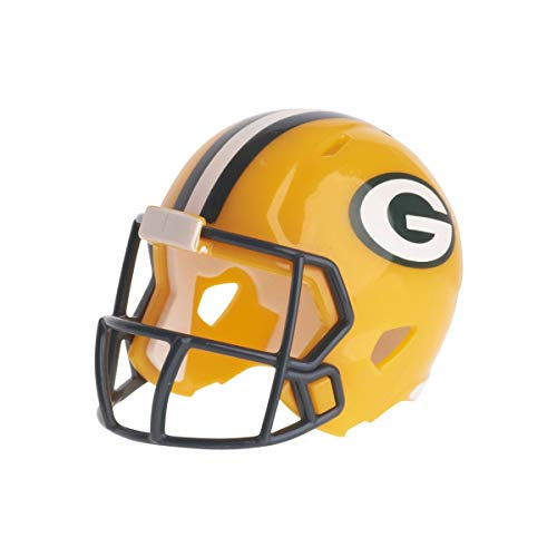 Riddell Mini-American-Football-Helm, NFL-Team: Green Bay Packers, im Taschenformat.