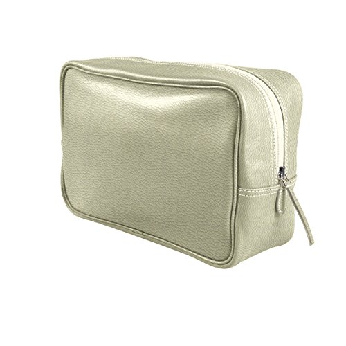 Lucrin - Trousse de Toilette Simple - Blanc Cassé - Cuir Grainé