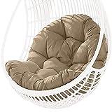 LIUDADA Hamaca mecedora cojín para exterior, interior o exterior, para jardín, terraza, cesta colgante cojín cojín cojín cojín acolchado para sillón oscilante 80 × 120 cm (Khaki)