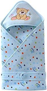 حقيبة نوم للاطفال حديثي الولادة من القطن، بطانية لف - زرقاء