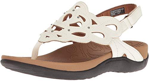 Rockport Women's Ridge Sling Sandal, White, 9 M US