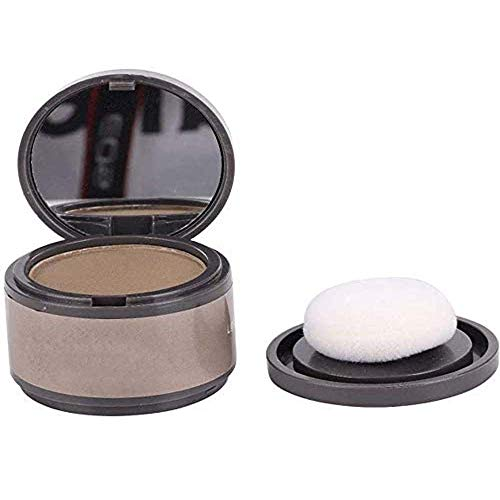2 Pcs Hairline Shadow Powder - Magical Volumizing Cover Up Powder with Puff and Mirror, Quick Cover Hair Root Concealer Anti-sweat, Waterproof Windproof, for Filling Hair (Light Coffee)