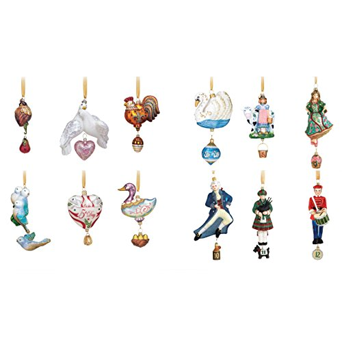 Exquisite 12 Days of Christmas Keepsake Ornaments
