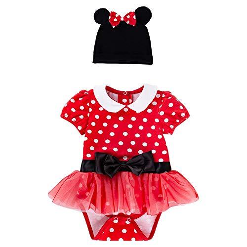 Sombrero de Punto para bebé y niña, 2 Piezas, Disfraz de Princesa para Vacaciones, cumpleaños, Fiesta Rojo Rosso 73 cm