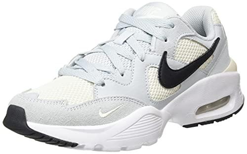 Nike Wmns Air Max Fusion, Scarpe da Ginnastica Donna, Aura Black Pale Ivory White, 38.5 EU