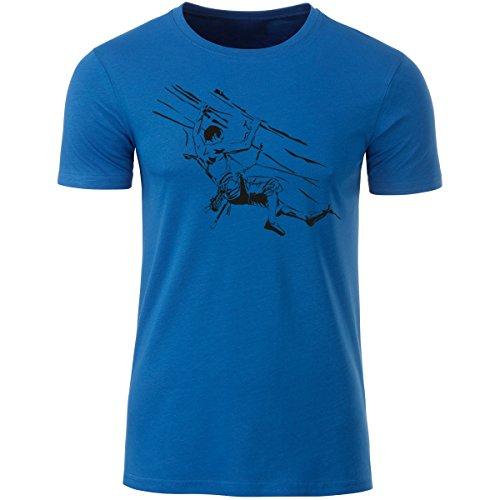 Klettershirt Herren Premium Bio T-Shirt Klettern #6 L royal Blue