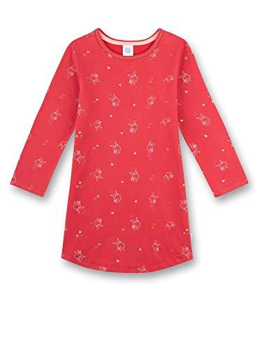Sanetta Mädchen Nachthemd Vögel, rot 232509 gr.128