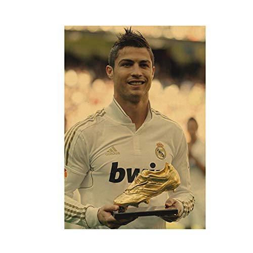YKing1 Ronaldo Won The Golden Boot Award Flower Mural Poster Canvas Painting Picture Canvas Art Room Decoration 50x70cm unframed